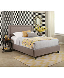 Raquel Upholstered Platform Bed Collection, Quick Ship