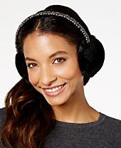 INC International Concepts Beaded Velvet Earmuffs, Created for Macy's