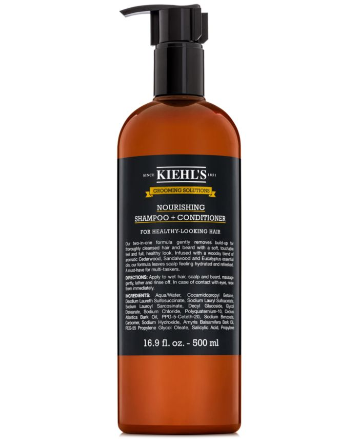 Kiehl's Since 1851 Grooming Solutions Nourishing Shampoo + Conditioner, 16.9-oz. & Reviews - Beauty - Macy's