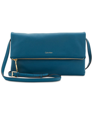 Pebble Medium Foldover Crossbody by Calvin Klein