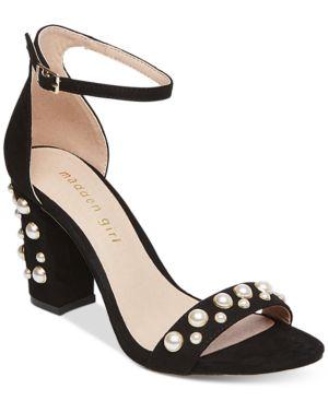 Madden Girl Bitsy Two-Piece Block-Heel Sandals Women