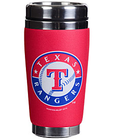 Hunter Manufacturing Texas Rangers 16oz Stainless Steel Travel Tumbler