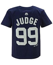 Majestic  Boys' Aaron Judge New York Yankees Official Player T-Shirt, Big Boys (8-20)