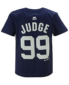 Majestic  Boys' Aaron Judge New York Yankees Official Player T-Shirt, Big Boys (8-20)