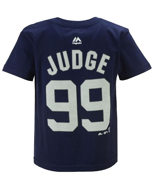 c2f37eea3eb Majestic Boys  Aaron Judge New York Yankees Official Player T-Shirt ...