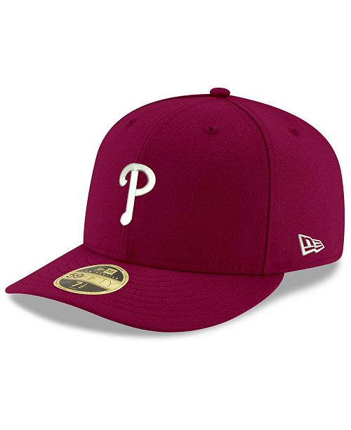 the best attitude cbf81 af52c ... New Era Philadelphia Phillies Low Profile C-DUB 59FIFTY Fitted Cap ...