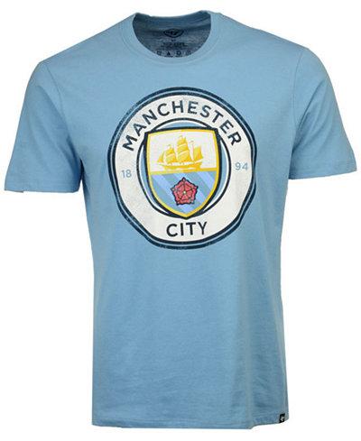 '47 Brand Men's Manchester City Club Team Wordmark Splitter T-Shirt