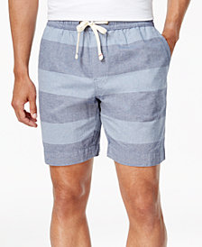 "Tommy Hilfiger Men's 7"" Alfred Striped Drawstring Cotton Shorts, Created for Macy's"