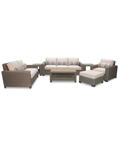 Del Mar 7-Pc. Set (1 Sofa, 1 Loveseat, 1 Club Chair, 1 Ottoman, 1 Coffee Table & 2 End Tables), Created for Macy's