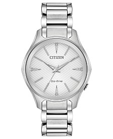 Citizen Eco-Drive Women's Silhouette Stainless Steel Bracelet Watch 35mm