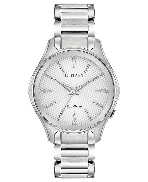 Citizen Eco-Drive Women's Silhouette Stainless Steel Bracelet Watch 35mm