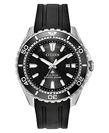 Citizen Eco-Drive Men's Promaster Diver Black Polyurethane Strap Watch 44mm