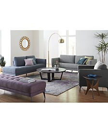 nilah fabric sofa collection created for macys - Living Room Sets Modern