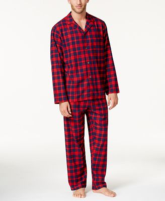 Club Room Men S Cotton Flannel Pajama Set Created For