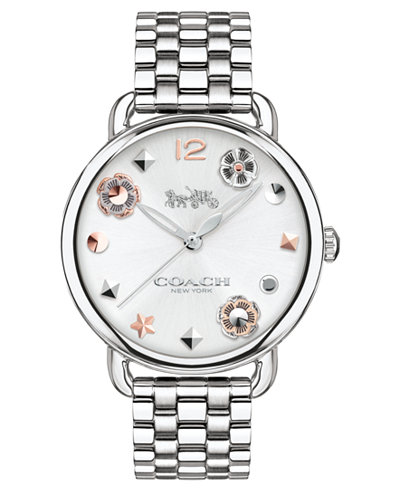 COACH Women's Delancey Stainless Steel Bracelet Watch 36mm