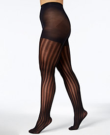 Berkshire Women's Plus Size Easy-On Vertical Stripe Tights 5042