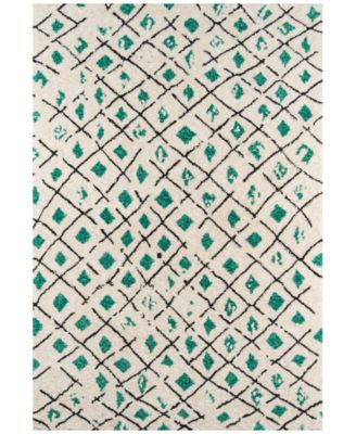 "Novogratz by Momeni Bungalow BUN02 Green 2' 3"" x 8'  Runner Area Rug"