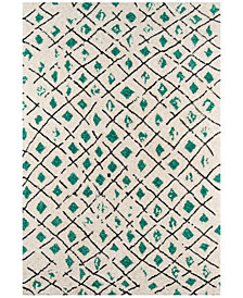 "Novogratz by Momeni Bungalow BUN02 Green 3' 6"" x 5' 6"" Area Rug"