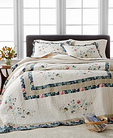Embroidered Wreath Full Bedspread, Created for Macy's