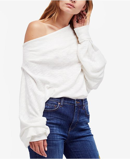 e2185f8a3203c Free People Skyline Off-The-Shoulder Thermal Sweater   Reviews ...