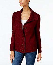 Karen Scott Petite Wing-Collar Cardigan, Created for Macy's