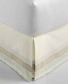 CLOSEOUT! Hotel Collection  Woven Accent Queen Bedskirt, Created for Macy's