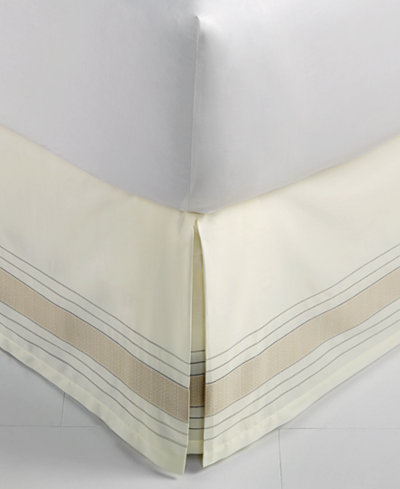 CLOSEOUT! Hotel Collection Woven Accent California King Bedskirt, Created for Macy's