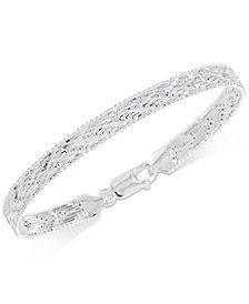 Giani Bernini Riccio Bracelet in Sterling Silver, Created for Macy's