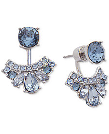 Givenchy Crystal & Pavé Front & Back Earrings