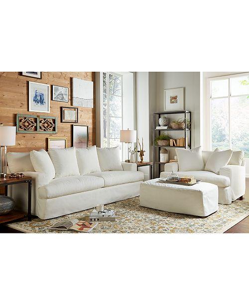 Macys Furniture Chicago: Furniture Brenalee Performance Fabric Slipcover Sofa