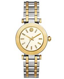 Women's Classic T Two-Tone Stainless Steel Bracelet Watch 36mm