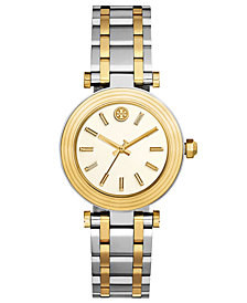 Tory Burch Women's Classic T Two-Tone Stainless Steel Bracelet Watch 36mm