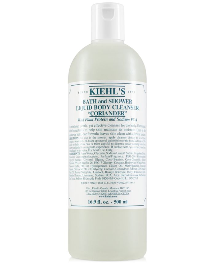 Kiehl's Since 1851 Bath & Shower Liquid Body Cleanser - Coriander, 16.9-oz. & Reviews - Skin Care - Beauty - Macy's
