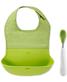 OXO Tot Roll-Up Bib & Feeding Spoon