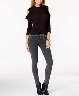 Hudson Jeans Nico Ripped Super-Skinny Jeans - Jeans - Women - Macy's