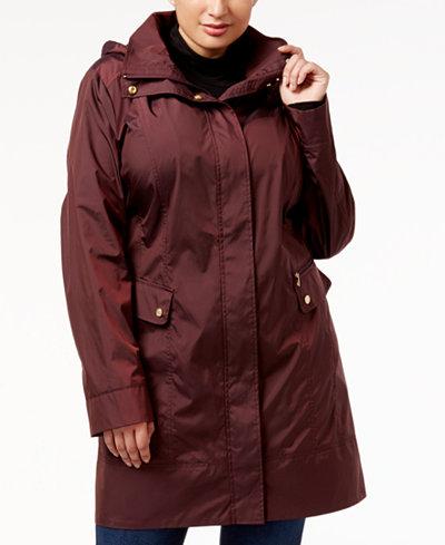 Cole Haan Signature Plus Size Packable Raincoat