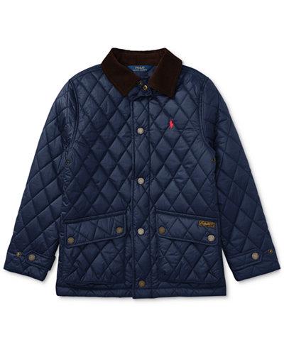 Ralph Lauren Diamond-Quilted Jacket, Big Boys - Coats & Jackets ... : ralph lauren jacket quilted - Adamdwight.com