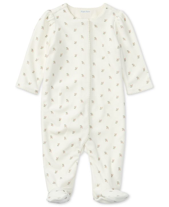 Ralph Lauren Floral-Print Coverall, Baby Girls