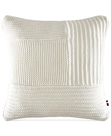 "Waffle-Knit 18"" Square Decorative Pillow"