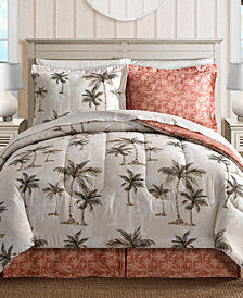 Palm Tree Reversible 8-Pc. Queen Bedding Ensemble