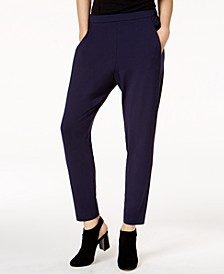 Stretch Jersey Pull-On Slouchy Ankle Pants
