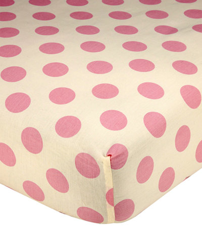 Carter's Jungle 100% Cotton Dot-Print Fitted Crib Sheet