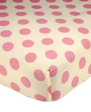 Carters Jungle 100 Cotton DotPrint Fitted Crib Sheet Bedding