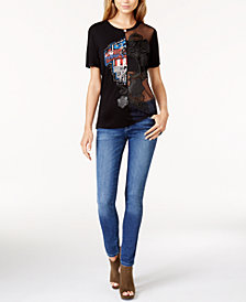 GUESS Lace T-Shirt & Skinny Jeans