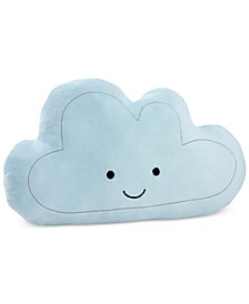 Happy Little Clouds Embroidered Plush Decorative Pillow