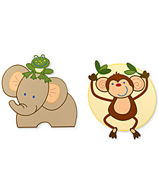 NoJo Jungle Babies 2-Pc. Wood Wall Art Set