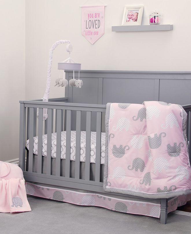 NoJo Elephant Dream 8-Piece Crib Bedding Set