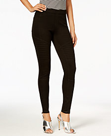 HUE® Women's  Denim Moto Leggings