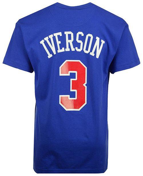 cheaper cd8a4 aa121 Men's Allen Iverson Philadelphia 76ers Hardwood Classic Player T-Shirt