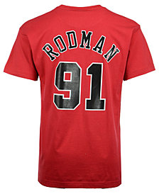 Mitchell & Ness Men's Dennis Rodman Chicago Bulls Hardwood Classic Player T-Shirt